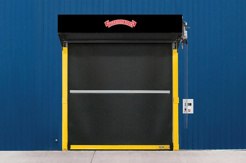 sectional steel door with insulated back