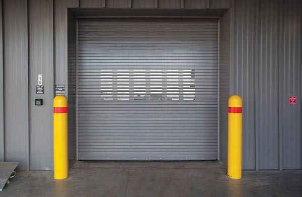 insulated rolling steel service door with no spring