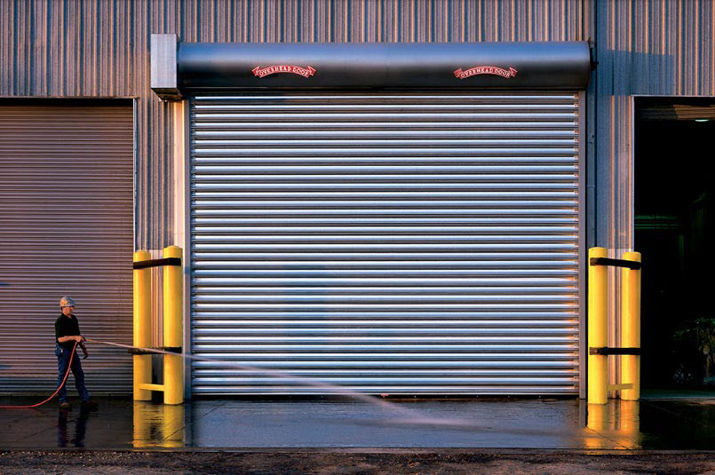 rolling steel commercial door