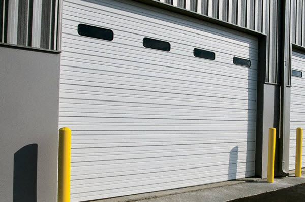 Sectional steel doors