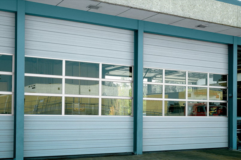 sectional doors used on auto service building
