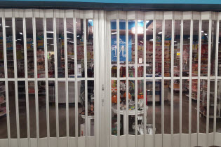 Side-Folding Full Enclosure Security Grilles 677