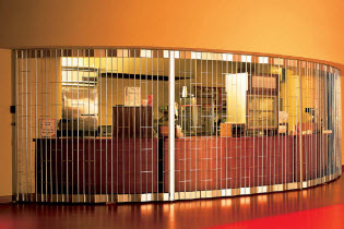 Side Folding Open Air Security Grilles - Model 681