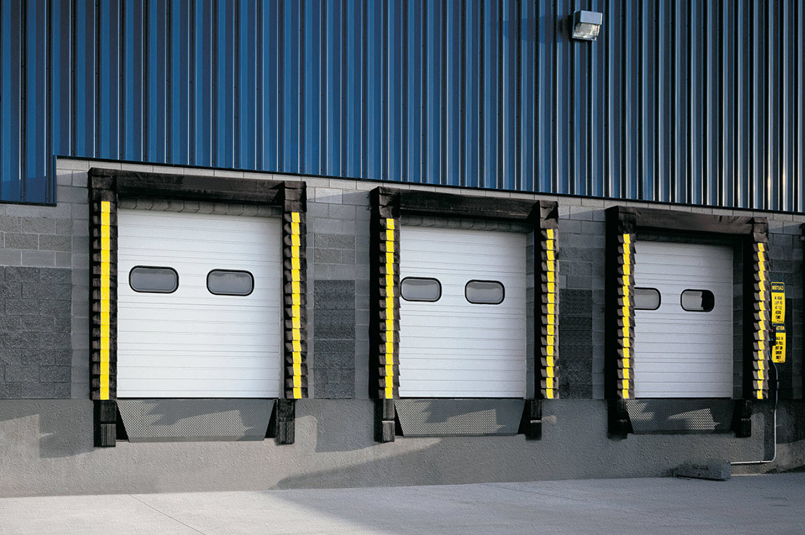 sectional doors used on building