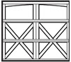 garage door with arch top 3 rows 2 x on bottom 2 rows