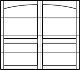 garage door arched top 4 rows 2 columns