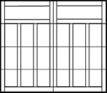 garage door 4 rows 6 columns on bottom 3 rows