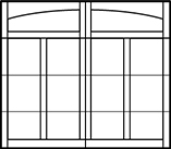 garage door arched top 4 rows 4 columns on bottom 3 rows