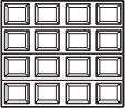 garage door 4x4 squares
