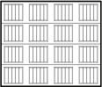 garage door 4x4 squares with ribbed lines