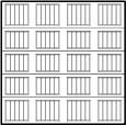garage door 4x45 squares with ribbed lines