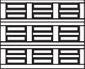 garage door 3x3 squares with horizontal design