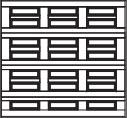 garage door 3x4 squares with horizontal design