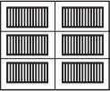 garage door 2x3 squares with horizontal design
