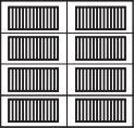 garage door 4x2 squares with horizontal design