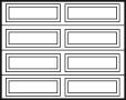 garage door design 4x2 panels