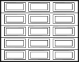 wood garage door design 4x3 panels