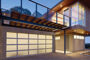 modern aluminum glass garage door