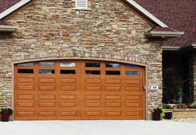 fiberglass faux wood garage doors