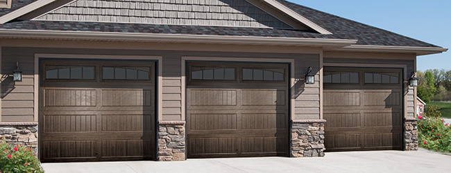 dark brown garage doorsThermacore Steel Garage Doors