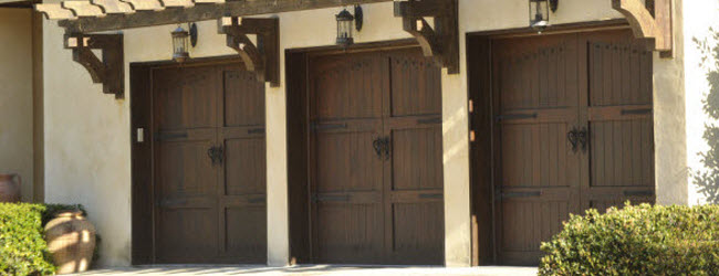 wood garage doors with depth