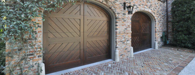 slick design wood garage door