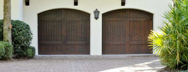 ... Dark Wood Garage Doors ...
