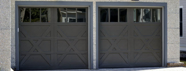 carriage style wood garage doors with windows