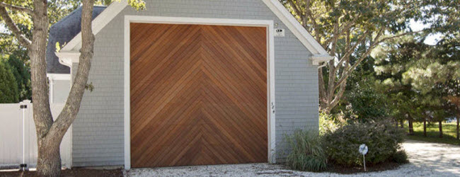 ... Large Tall Wood Garage Door On Barn ...