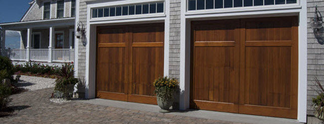 wood garage doors with vertical panels