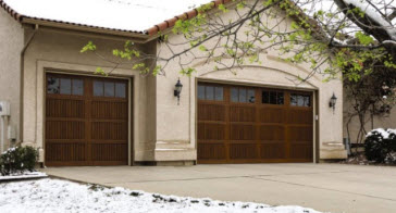 wood garage door option