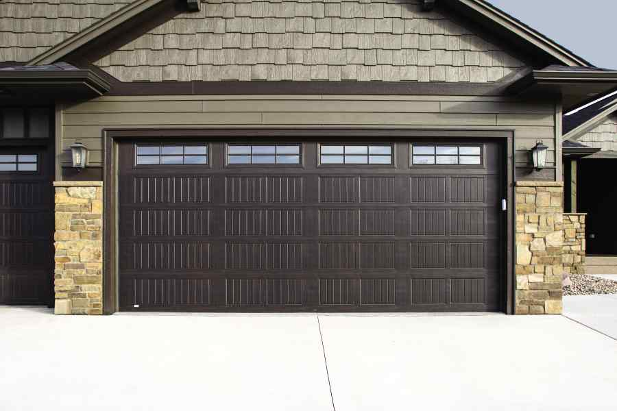 insulated garage door with wood grain - Garage Door With Door