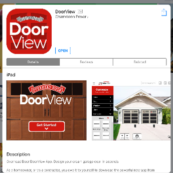 garage door visual app