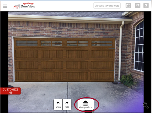 door view - garage door app screenshot