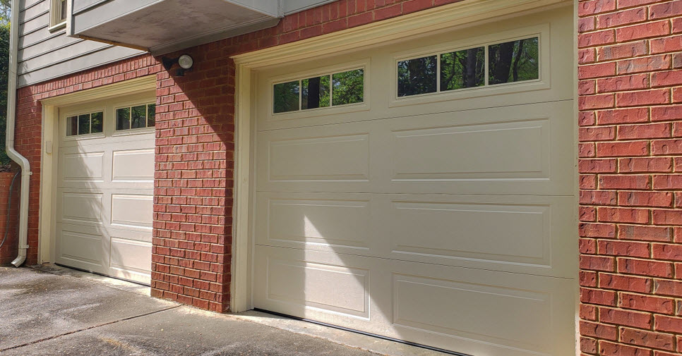 house with new garage door