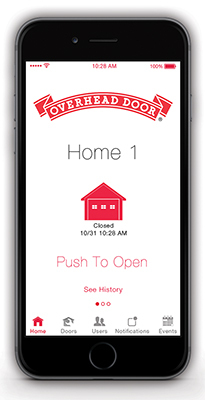 garage door mobile app