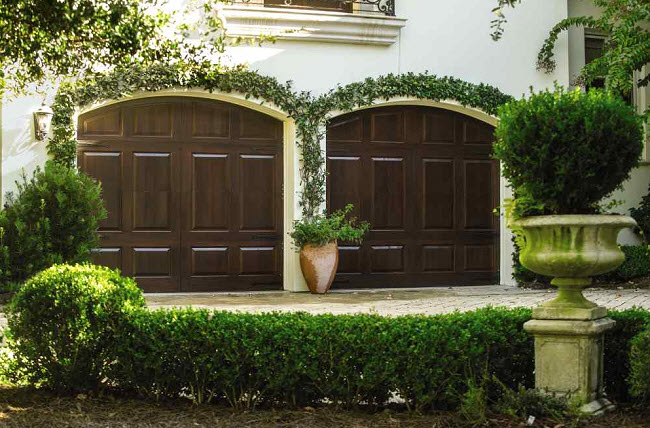 ways to accent your garage doors