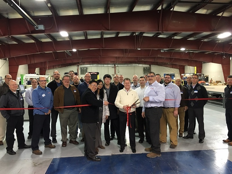high speed rolling door ribbon cutting