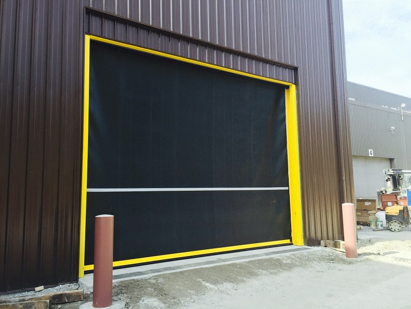 rolling high speed rubber door