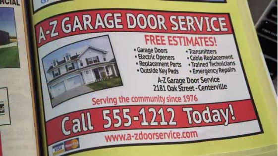 spotting marketing from garage door scams