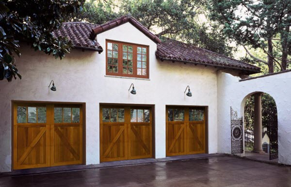 wood garage doors for home