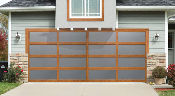 Overhead door blog wood grain aluminum garage doors for Wood grain garage doors