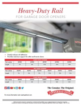 Heavy Duty Rail for Garage Door Openers