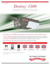 garage door opener destiny 1500 screw rh overheaddoor com