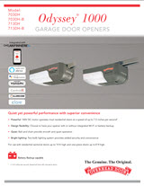 garage door opener brochure