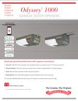 odyssey 1000 garage door opener keypad
