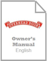 garage door opener owners manual - odyssey and destiny english