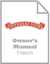 garage door opener owners manual - odyssey 1000