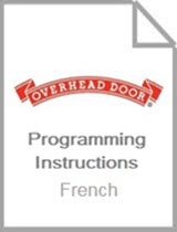 Wireless Keypad OKP Programming Instructions - French
