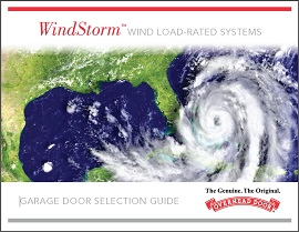 wind load garage door brochure